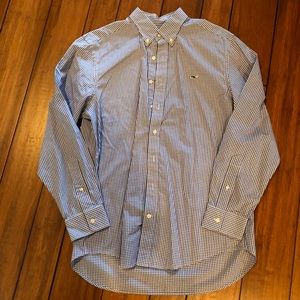 Vineyard Vines Slim Fit Whale Shirt Blue Checkered